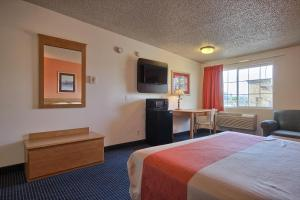 A television and/or entertainment center at Motel 6-Merced, CA