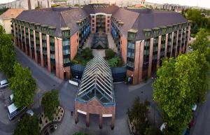 Blick auf The Aquincum Hotel Budapest aus der Vogelperspektive