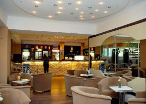 The lounge or bar area at Sport Hotel