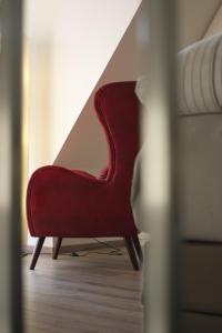 Ein Sitzbereich in der Unterkunft Hommage Appartements