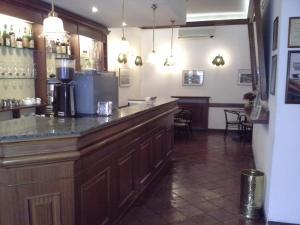 The lobby or reception area at Albergo Italia