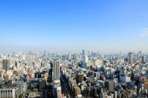 A bird's-eye view of Hotel Monterey Grasmere Osaka