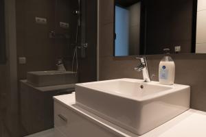 A bathroom at Espais Blaus Apartments