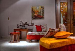 Χώρος καθιστικού στο Ξενοδοχείο Δρυάδες