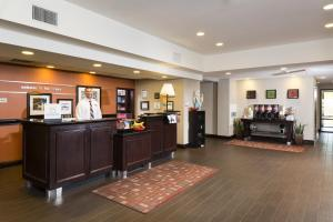 The lobby or reception area at Hampton Inn & Suites Las Vegas South