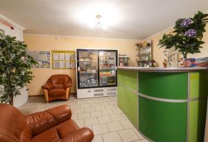 The lobby or reception area at Viktoria Hotel