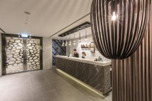 The lobby or reception area at The Cloud Hotel