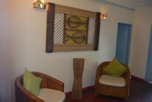 A seating area at Pousada Recanto do Espelho