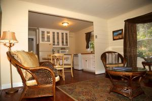 A seating area at Monarch Cove Inn