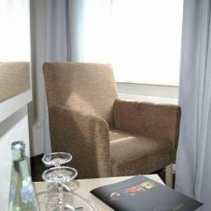 Ein Sitzbereich in der Unterkunft Gästehaus Küste