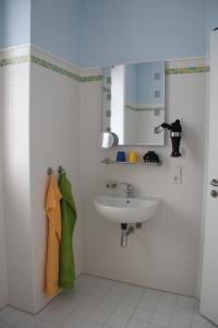 Ein Badezimmer in der Unterkunft Gutshof Sagritz