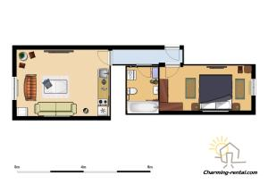 The floor plan of The Old Town Luxury Hideaway Apartment
