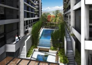 A view of the pool at CityStyle Executive Apartments - BELCONNEN or nearby