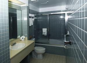 A bathroom at Metro Plaza Hotel