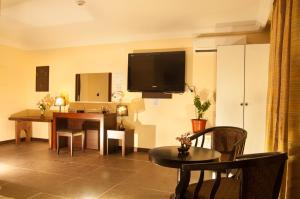 A television and/or entertainment center at Hotel Galleria Saipan