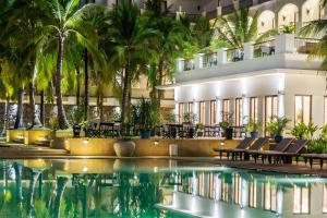 The swimming pool at or near Lotus Blanc Resort