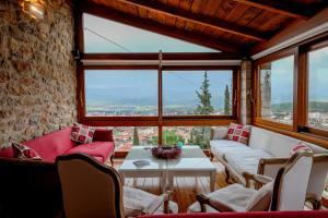 Χώρος καθιστικού στο Kyriaki Guesthouse