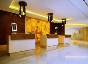 The lobby or reception area at Marriott Moscow Hotel Novy Arbat