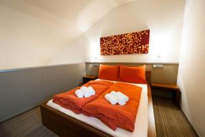 Postel nebo postele na pokoji v ubytování Motel Jetel