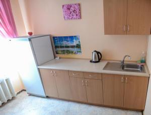Кухня или мини-кухня в Hotel Uyut