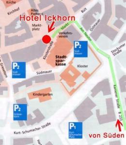 Blick auf Hotel Ickhorn aus der Vogelperspektive