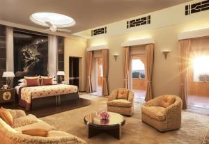 A seating area at Umaid Bhawan Palace Jodhpur