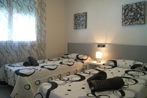 Cama o camas de una habitación en Pomera I - BTB