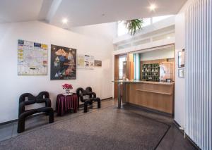 Lobby/Rezeption in der Unterkunft Hotel an der Waldstraße