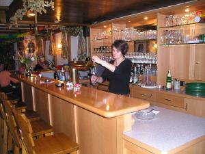 The lounge or bar area at Hotel-Pension Am Wäldchenborn