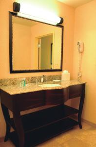 A bathroom at Hampton Inn and Suites Marksville