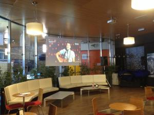 The lobby or reception area at Appartamento Villaggio Olimpico