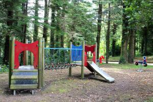 Children's play area at Ballyhoura Mountain Lodges