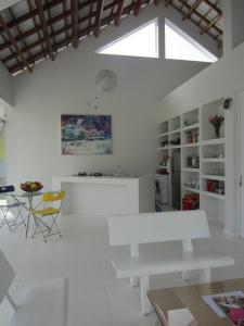 Khu vực ăn uống trong nhà nghỉ nhỏ