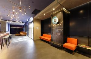 The lobby or reception area at Alpha Mosaic Hotel Fortitude Valley Brisbane
