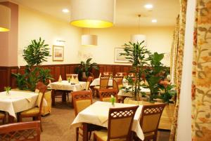 A restaurant or other place to eat at Hotel Wilga by Katowice Airport
