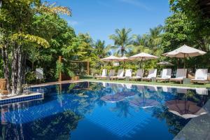 A piscina localizada em Refúgio da Vila ou nos arredores