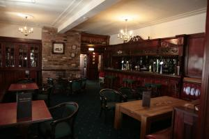 The lounge or bar area at The Plough Inn
