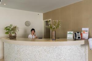 The lobby or reception area at Zante Plaza Hotel & Apartments