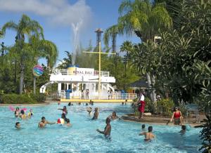 The swimming pool at or close to Universal's Loews Royal Pacific Resort