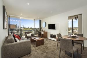 A seating area at Quest Woolloongabba