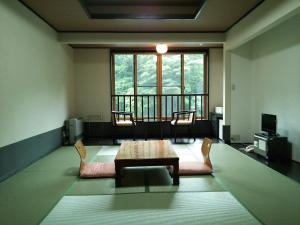 A seating area at Gensenkan