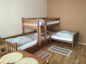 A bunk bed or bunk beds in a room at Apartmán Kovářská u Klínovce