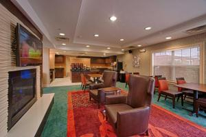 The lobby or reception area at Residence Inn Neptune at Gateway Center
