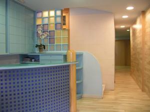 A kitchen or kitchenette at Hotel Goya