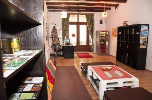 El vestíbulo o zona de recepción de JugendStube Hostel