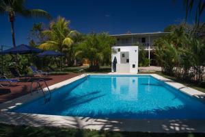 Der Swimmingpool an oder in der Nähe von Hotel Horizontes de Montezuma