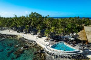 A view of the pool at Maitai Rangiroa or nearby