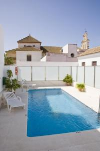 The swimming pool at or near Los Helechos