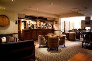 The lounge or bar area at Lancaster House Hotel