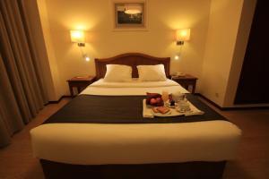 Cama o camas de una habitación en Hotel da Bolsa